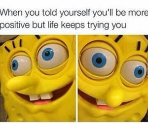 life, sponge bob, and meme image