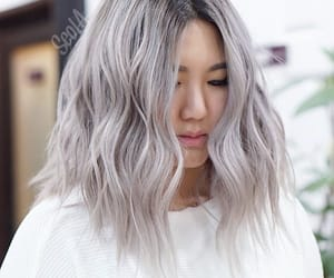 beauty, curly, and grey image