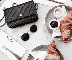 food, bag, and croissant image