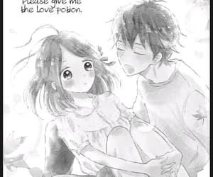 black and white, manga, and romance image