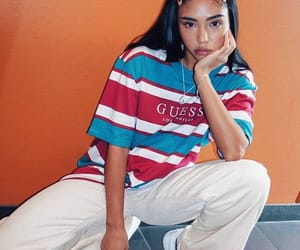 fashion, girl, and guess image