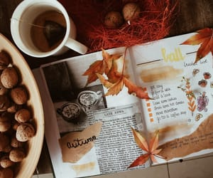 art, autumn, and coffee image