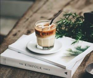coffee, books, and iced coffee image