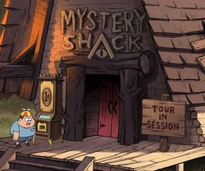 animation, house, and mystery shack image