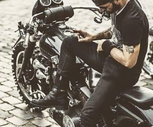 boy, motorcycle, and bad boy image