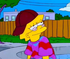 simpsons, lisa, and hippie image