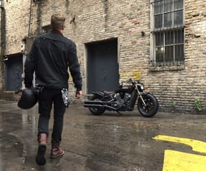 biker, harley, and indian image