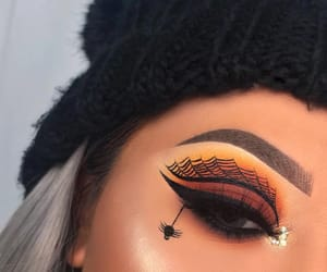 black, eyeshadow, and Halloween image