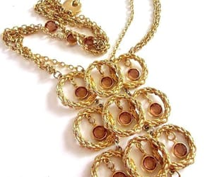 etsy, amber glass, and goldette necklace image