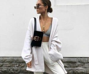 bra, cardigan, and fashion image