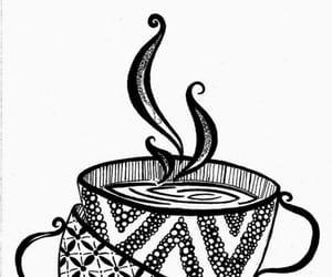 drawing, tazas, and zentangle image