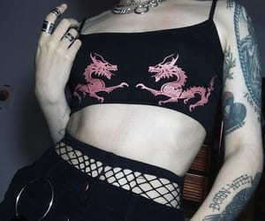 alternative, alternative style, and tattoo image