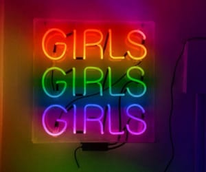 girl, colors, and neon image