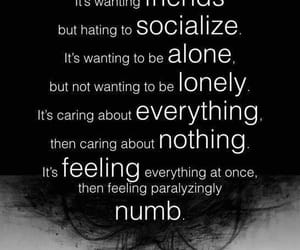 anxiety, depression, and alone image