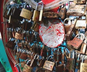 couple, forever, and lock image