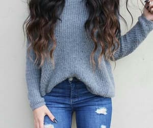 blue, jeans, and fashion chic image