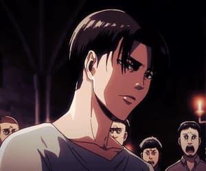 anime, shingeki no kyojin, and boy image