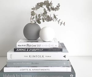 books, deco, and grey image