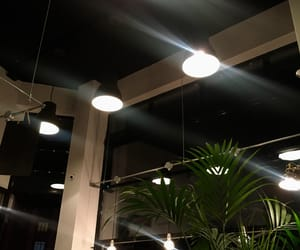 city, coffee shop, and light image