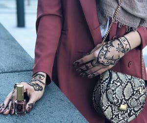 bag, beautiful, and girl image