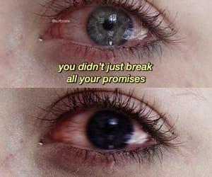 broken, crying, and promises image