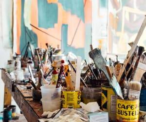 art, artist, and brush image
