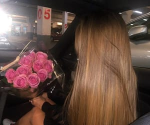 car, dark, and girl image