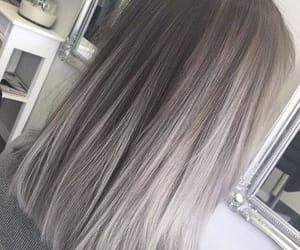 hair, beauty, and grey image