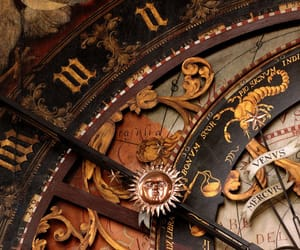 clock, vintage, and zodiac image