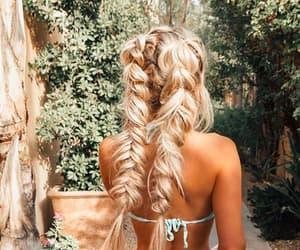 bikini, fashion, and blonde image