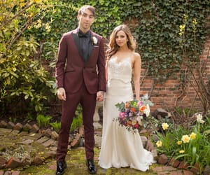 alex gaskarth, all time low, and wedding image