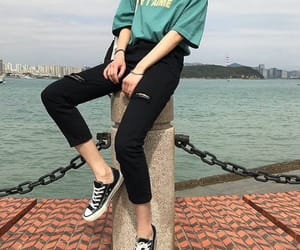 aesthetic, fashion, and teal image