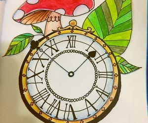 alice, art, and clock image