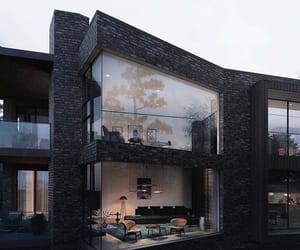 architecture, black, and house image