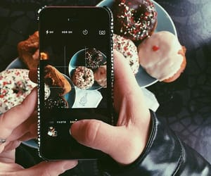 donuts, food, and iphone image