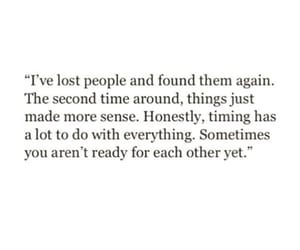 lost, timing, and people image