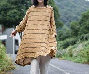linen top, women top, and large size shirt image