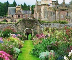 gardens, mansion, and scotland image