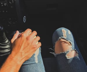 car, couple, and couple goals image