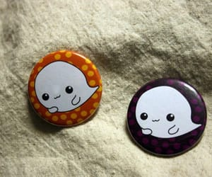 buttons, ghosts, and october image
