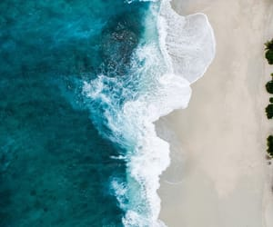 beach, blue, and waves image