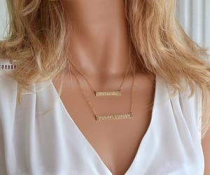 etsy, name necklace, and layered necklace image