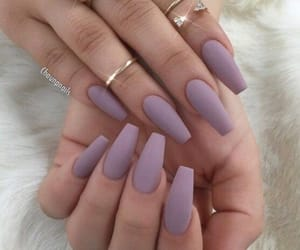 nails, purple, and matte image