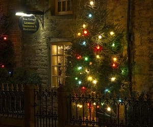 christmas lights, derbyshire, and landscape image
