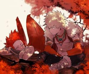 red, yaoi, and kiribaku image