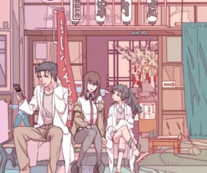 anime, steins;gate, and pink image