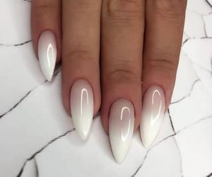 girl, nails, and white image