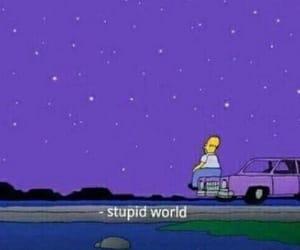 purple, simpsons, and stars image
