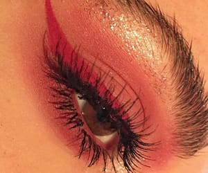 makeup, girl, and red image