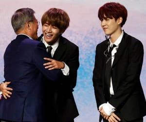 president, bts, and v image